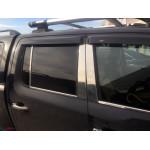 VW Amarok 2010- Накладки на дверные стойки 6шт - Carmos