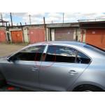 VW Jetta 2011- Накладки дверных стоек 2шт - Carmos