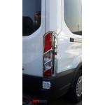 Ford Transit 2014- Накладки на стопы (пластик) 2шт - Carmos