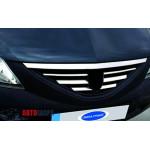 Dacia/Renault Logan 2008-2012 Накладки на решетку радиатора 7шт - Carmos