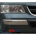 VW T5 2003- Накладки на передний бампер уголки 2шт - Carmos