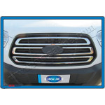 Ford Transit 2014- Накладка на решетку радиатора 3шт - Carmos