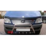 Mercedes Sprinter 2003-2006 Накладки на решетку радиатора широк 6шт - Carmos
