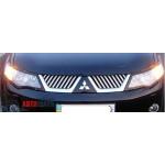 Mitsubishi Outlander XL 2007-2012 Накладки на решетку радиатора - Carmos
