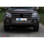 VW Amarok 2010- Решетка в бампер 1шт - Carmos