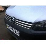 VW Caddy 2010-2014 Накладки на решетку радитора 2шт - Carmos