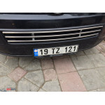VW Caddy 2010- Решетка в бампер цельная - Carmos
