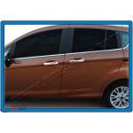 Ford Fiesta 2010-/B-max 2012-/Courier 2014- Накладки на ручки 4шт - Carmos