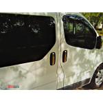 Renault Trafic/Opel Vivaro/Nissan Primastar 2001-2014 Накладки на ручки 8шт - Carmos