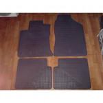 Резиновые коврики TOYOTA COROLLA 2002 черные 4 шт - Petex