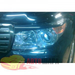 Защита фар Toyota LAND CRUISER 200 2012 ПРОЗРАЧНАЯ 2 ШТ. - EGR