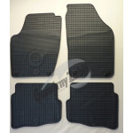 Резиновые коврики Volkswagen POLO 2000 серые GUZU / DOMA