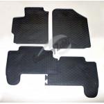 Резиновые коврики TOYOTA YARIS 2011 серый 4 шт GUZU / DOMA