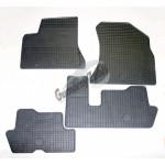Резиновые коврики PEUGEOT 5008 2010 серый 4 шт GUZU / DOMA