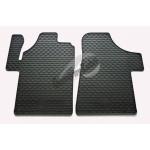 Резиновые коврики MERCEDES VITO 2003 черный 2 ШТ GUZU / DOMA