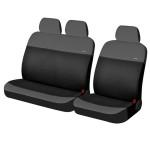 Чехлы Фронт для автомобильных сидений микроавтобусов Hadar Rosen RONDO Van, Темно-Серый/Черный 10401