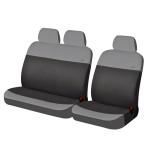 Чехлы Фронт для автомобильных сидений микроавтобусов Hadar Rosen RONDO Van, Светло-Серый/Темно-Серый 10402