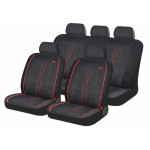 Чехлы для автомобильных сидений Hadar Rosen LEADER, Черный с красным 10409