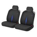 Накидки Фронт для автомобильных сидений Hadar Rosen KARAT, Голубой/Черный 21144