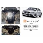 Защита Audi A4 В8 2007-2011 V-2,0TDI; 3,0TDI двигатель, КПП, радиатор - Kolchuga