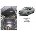 Защита Skoda Fabia III 2014- V-1,0 двигатель, КПП, радиатор - Премиум - Kolchuga