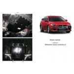 Защита Mitsubishi Lancer Evolution X 2007- V-2,0 двигатель, КПП, радиатор - Премиум ZiPoFlex - Kolchuga