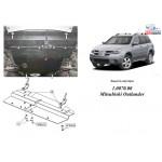 Защита Mitsubishi Outlander 2003-2010 V-2,0; 2,4 универсальн двигатель и КПП - Кольчуга