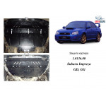 Захист Subaru Impreza 2000-2007 V-1,6; 1,8; 2,0; двигун, КПП, радіатор, редуктор заднього мосту - Kolchuga