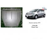 Защита Nissan Note 2005- V 1,6 АКПП двигатель и КПП - Кольчуга