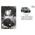 Защита Seat Altea  Freetrack 2007- V-1,4; 2,0 TFSI двигатель, КПП, радиатор - Kolchuga