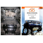 Защита Peugeot Partner В9 2008- V- все двигатель, КПП, радиатор - Kolchuga