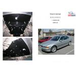 Защита BMW 5-й серiї Е 39 1995-2003 доV-3,0 включительно дизель, бензин защита АКПП (1.9404.00), МКПП (1.9401.00) двигатель и КПП - Кольчуга