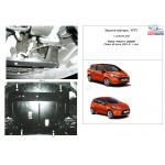 Защита Ford Fiesta  VII 2008- V- все двигатель, КПП, радиатор - Kolchuga