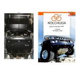 Защита Volkswagen Polo 2009- V-1,2 D двигатель, КПП, радиатор - Kolchuga