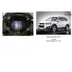 Защита Chevrolet Captiva 2011- V-3,0 двигатель и КПП - Кольчуга