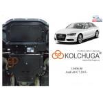 Защита Audi A6 C7 2011- V-2,8 FSI АКПП, guattro двигатель и КПП - Кольчуга