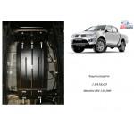Защита Mitsubishi L200 2006- V-все АКПП защита роздатки - Кольчуга