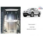 Защита Mitsubishi L200 2006- V-все МКПП защита роздатки - Кольчуга
