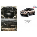 Защита Nissan Murano 2008- V-3,5 АКПП двигатель и КПП - Кольчуга