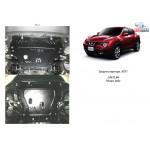 Защита Nissan Juke 2011- V-1,5 двигатель и КПП - Кольчуга