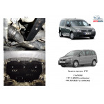 Защита Volkswagen Caddy WeBasto 2004-2010 V- все D двигатель, КПП, радиатор - Kolchuga