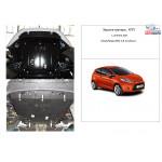 Защита Ford Fiesta  VII EcoBoost 2012-2017 V-1,0 двигатель, КПП, радиатор - Kolchuga
