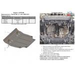 Защита Toyota RAV 4 III 2005-2012 V-2,2 D двигатель, КПП, радиатор - Kolchuga