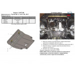 Защита Toyota RAV 4 IV 2013- V-2,0і; 2,2 D двигатель, КПП - Kolchuga