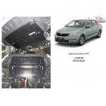 Защита Skoda Rapid 2012-2016- V- всi двигатель, КПП, радиатор - Kolchuga