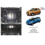 Защита Nissan Micra 2013- V-1,2; 1,4 двигатель, КПП, радиатор - Kolchuga