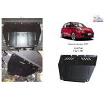 Защита Fiat L 500 2013- V-1,4; 1,3 D двигатель/КПП/радиатор - Kolchuga