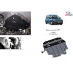 Защита Volkswagen Caddy GP 2011- V- все двигатель, КПП, радиатор - Kolchuga