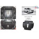 Защита Geely Emgrand X7 2013- V- все двигатель, КПП, радиатор - Kolchuga