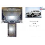 Защита Infiniti QX 70 2013- V-3,7; 3,0D двигатель, КПП, радиатор - Kolchuga